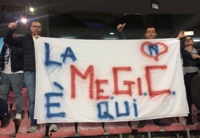 La carica dei 181 al San Paolo… La MeGiC ringrazia il Napoli per la possibilità.