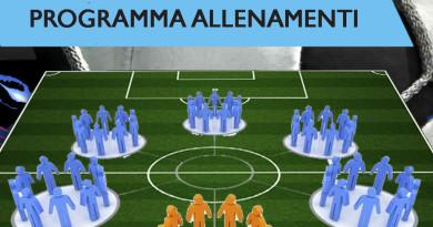 Programma definitivo allenamenti scuola calcio